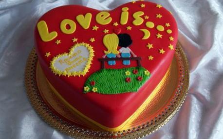 Торт ко дню влюбленных фото